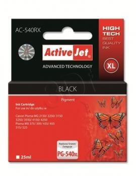 ActiveJet Tusz ActiveJet AC-540RX | Czarny | 25 ml | Canon PG-540XL