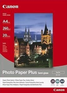 Canon SG201 Photo Paper Plus Semi-glossy (260g, 20x25cm, 20ark)