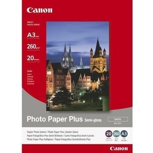 Canon SG201 Photo Paper Plus Semi-glossy (260g, A3+, 20ark)