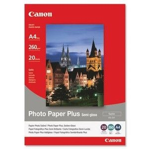 Canon SG201 Photo Paper Plus Semi-glossy (260g, A4, 20ark)