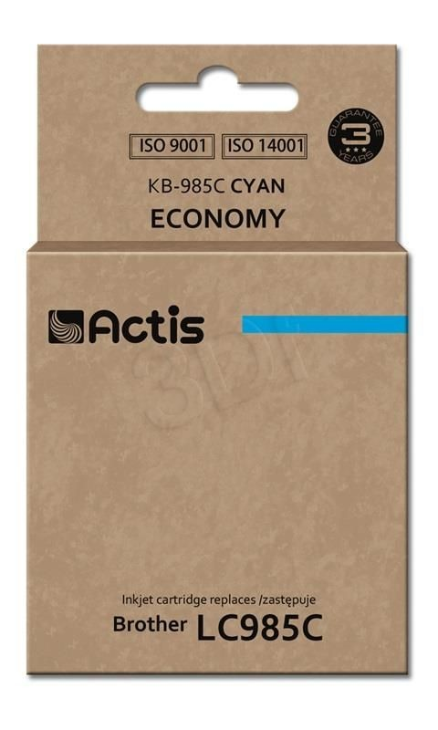 Actis Tusz Actis KB-985C (do drukarki Brother zamiennik LC985C standard 19 5ml cyan)