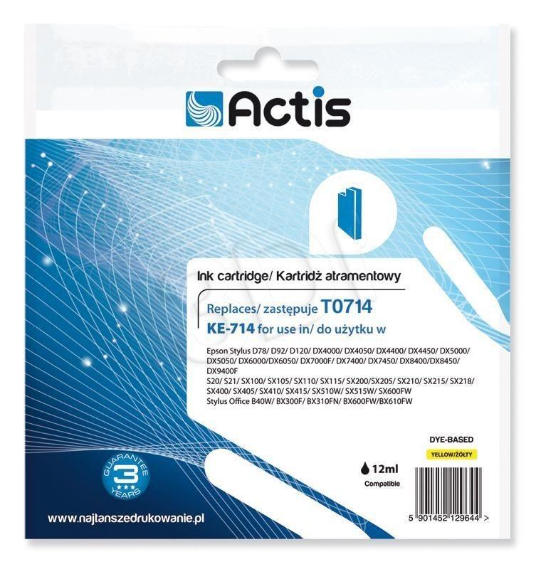 Actis Tusz Actis KE-714 (do drukarki Epson zamiennik T0714 C13T071440 standard 13 5ml yellow)