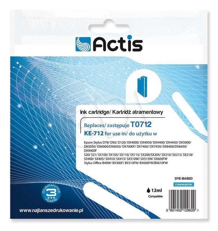 Actis Tusz Actis KE-712 (do drukarki Epson zamiennik T0712 C13T071240 standard 13 5ml cyan)