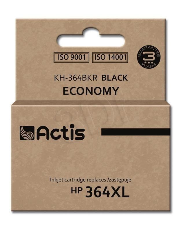 Actis Tusz Actis KH-364BKR (do drukarki Hewlett Packard zamiennik HP 364XL CN684EE standard 20ml czarny Chip)