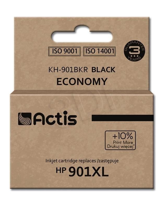 Actis Tusz Actis KH-901BKR (do drukarki Hewlett Packard zamiennik HP 901XL CC654AE standard 20ml czarny)