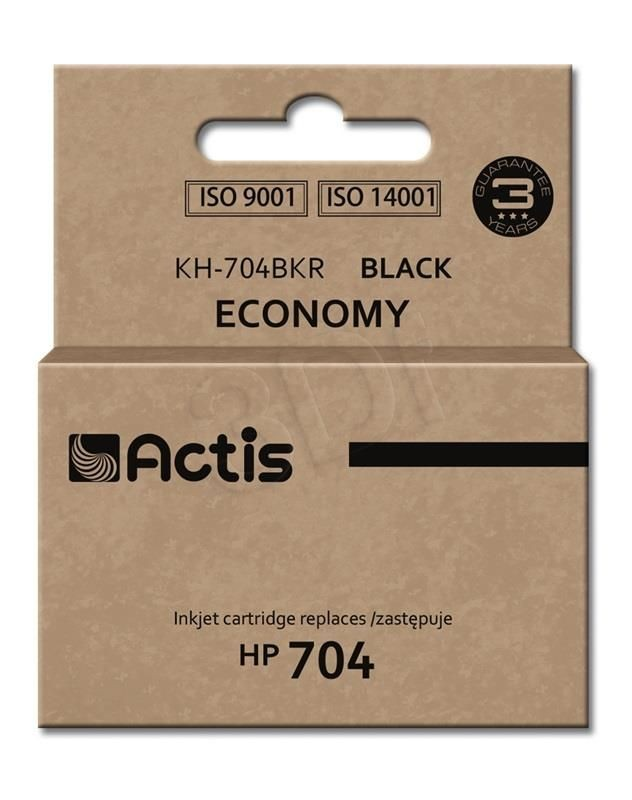 Actis Tusz Actis KH-704BKR (do drukarki Hewlett Packard zamiennik HP 704 CN692AE standard 15ml czarny)