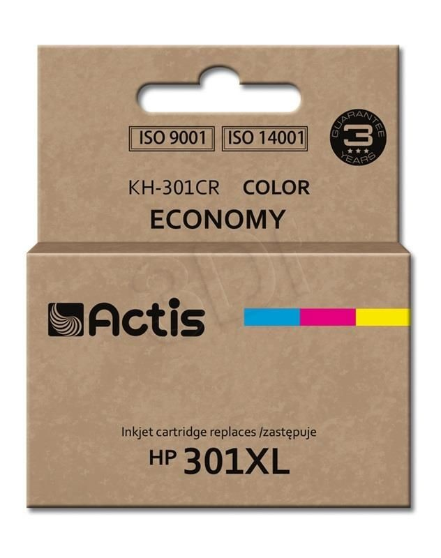 Actis Tusz Actis KH-301CR (do drukarki Hewlett Packard zamiennik HP 301XL CH564EE standard 21ml trójkolorowy)