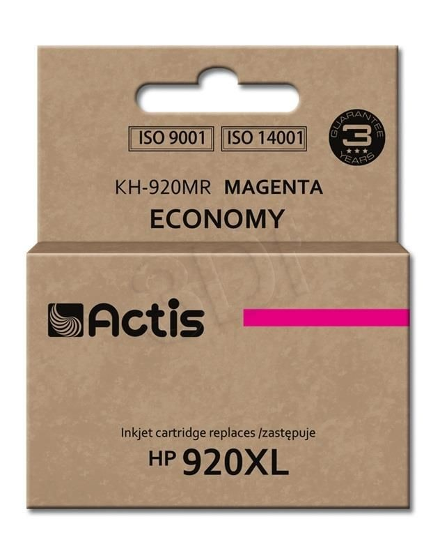 Actis Tusz Actis HP 920XL (do drukarki Hewlett Packard zamiennik HP 920XL CD973AE standard 12ml magenta)