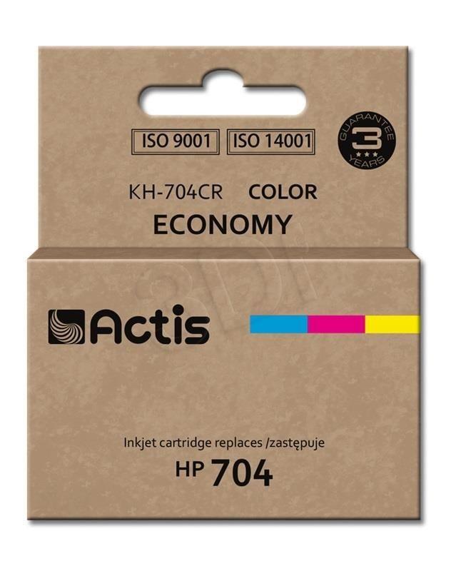 Actis Tusz Actis KH-704CR (do drukarki Hewlett Packard zamiennik HP 704 CN693AE standard 9ml trójkolorowy)