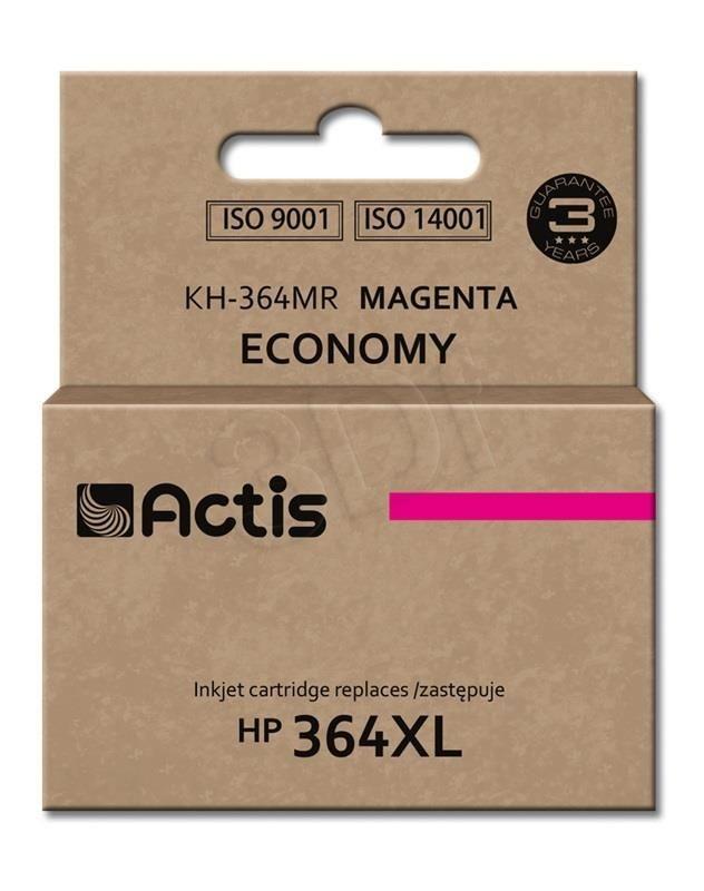 Actis Tusz Actis KH-364MR (do drukarki Hewlett Packard zamiennik HP 364XL CB324EE standard 12ml magenta Chip)