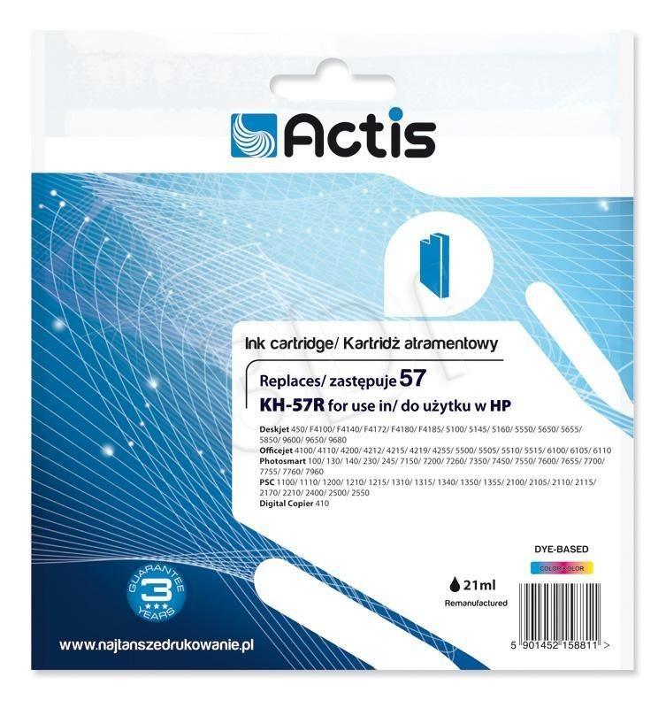 Actis Tusz Actis KH-57R (do drukarki Hewlett Packard zamiennik HP 57 C6657A standard 21ml trójkolorowy)