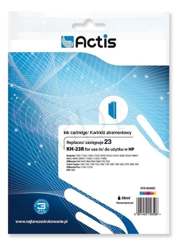 Actis Tusz Actis KH-23R (do drukarki Hewlett Packard zamiennik HP 23 C1823D standard 39ml trójkolorowy)