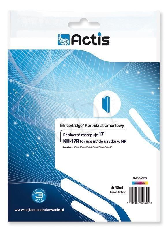 Actis Tusz Actis KH-17R (do drukarki Hewlett Packard zamiennik HP 17 C6625A standard 39ml trójkolorowy)