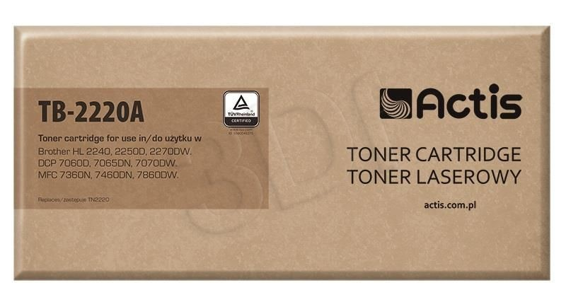 Actis Toner TB-2220A (zamiennik Brother TN-2220; Standard; 2 600 stron; czarny)