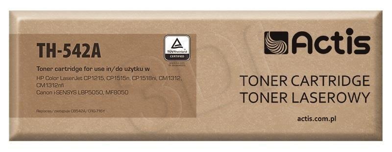 Actis Toner Actis TH-542A (do drukarki Canon Hewlett Packard zamiennik HP 125A/Canon CRG-716Y CB542A standard 1400str. yellow)