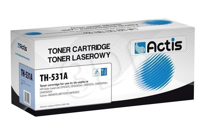 Actis Toner Actis TH-531A (do drukarki Canon Hewlett Packard zamiennik HP 304A/Canon CRG-718C CC531A standard 2800str. cyan)