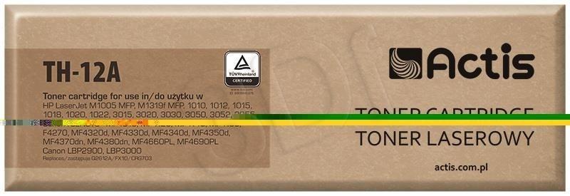 Actis Toner Actis TH-12A (do drukarki Canon Hewlett Packard zamiennik HP 12A/Canon CRG-703/FX-10 Q2612A standard 2000str. czarny)