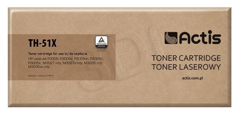 Actis Toner Actis TH-51X (do drukarki Hewlett Packard zamiennik HP 51X Q7551X standard 13000str. czarny)