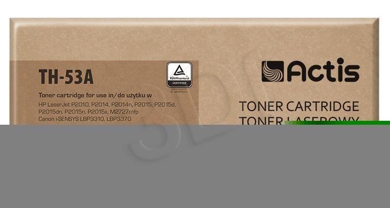 Actis Toner Actis TH-53A (do drukarki Canon Hewlett Packard zamiennik HP 53A/Canon CRG-715 Q7553A standard 3000str. czarny)