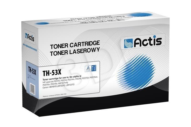 Actis Toner TH-53X (zamiennik Canon HP 53X CRG-715H Q7553X; Standard; 7 000 stron; czarny)