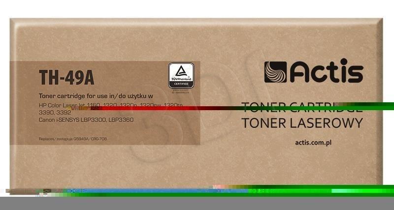 Actis Toner Actis TH-49A (do drukarki Canon Hewlett Packard zamiennik HP 49A/Canon CRG-708 Q5949A standard 2500str. czarny)