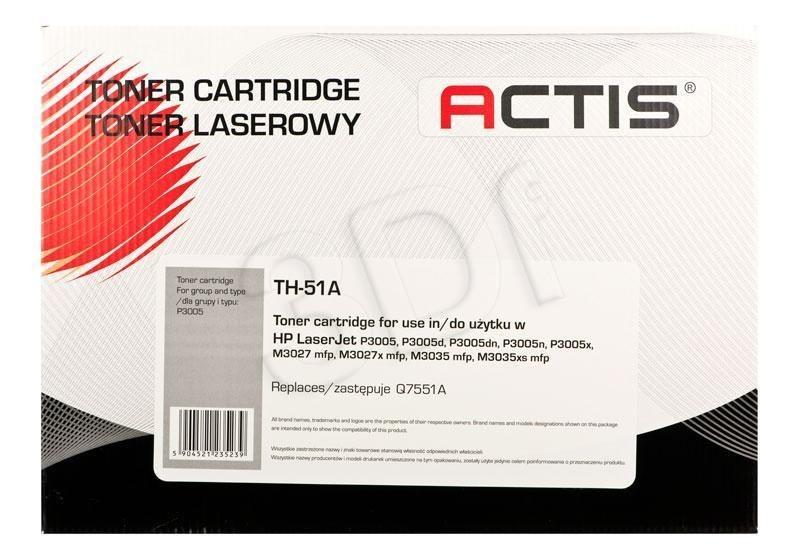 Actis Toner Actis TH-51A (do drukarki Hewlett Packard zamiennik HP 51A Q7551A standard 6500str. czarny)