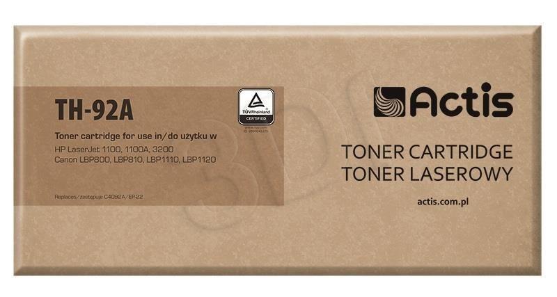 Actis Toner Actis TH-92A (do drukarki Canon Hewlett Packard zamiennik HP 92A/Canon EP-22 C4092A standard 2500str. czarny)