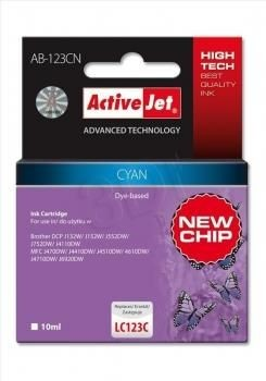 ActiveJet Tusz ActiveJet AB-123CN | Cyan | 10 ml | Brother LC123C, LC121C