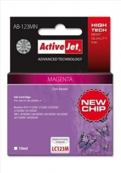 ActiveJet Tusz ActiveJet AB-123MN | Magenta | 10 ml | Brother LC123M LC121M