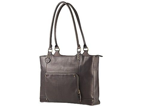 HP Ladies Brown Leather Tote (15,6') F3W12AA