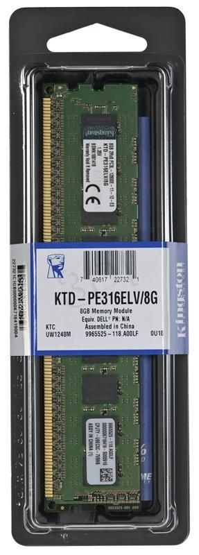 Kingston Pamięć DIMM DDR3L 8GB 1600MHz 11CL 1.35V SINGLE