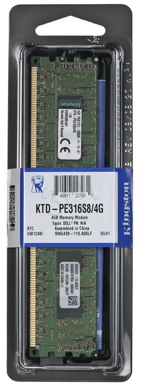 Kingston kit 4GB 1600MHz Reg ECC 1Rx8 Single Rank Module