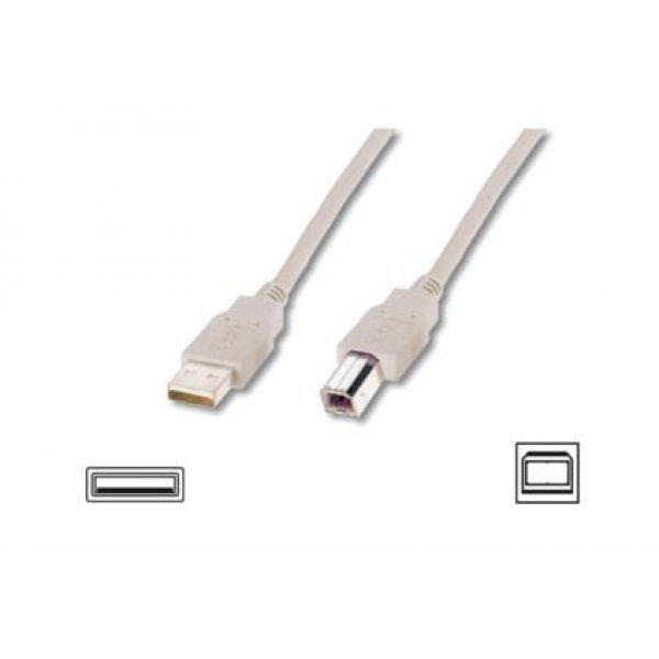 Assmann Kabel USB2,0 A m / B m dł.3,0m beżowy UL
