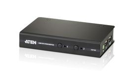 Aten CS72D 2-Port USB DVI KVM Switch, 1x 1.2m 44-pin KVM Cable Set, Non-powered