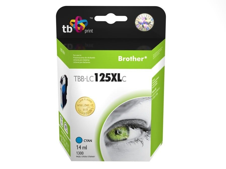 TB Print Tusz do Brother LC125XL TBB-LC125XLC CY