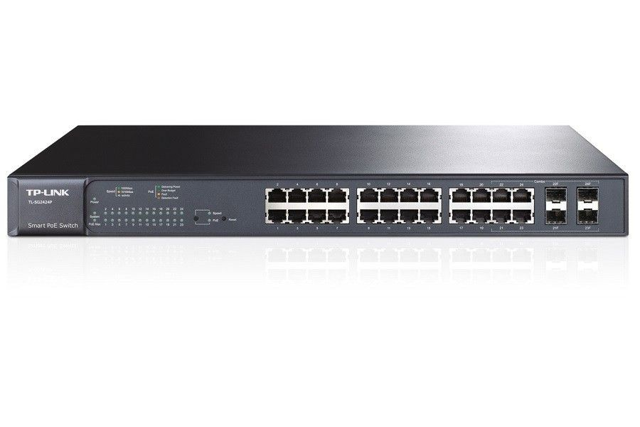 TP-Link SWITCH T1600G-28PS (TL-SG2424P) 24x10/100/1000, 4xSFP MANAGMENT