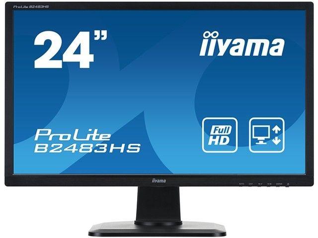 iiyama Monitor B2483HS-B1 24inch, TN, Full HD, DVI, HDMI, głośniki