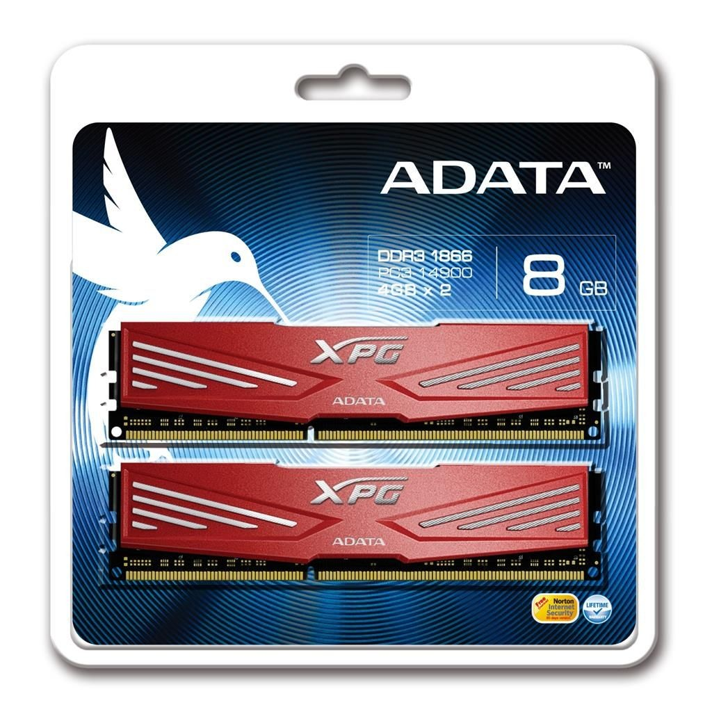 A-Data XPG V1.0 2x4GB 1866MHz DDR3 CL10 Radiator 1.5V