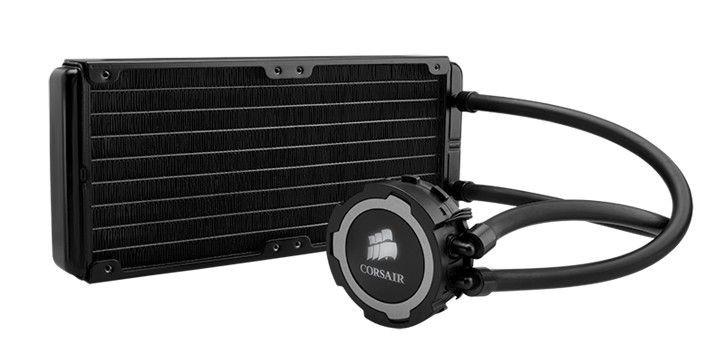 Corsair chłodzenie wodne Hydro Series H105, 2x120mm fan, 37.7 dB(A)