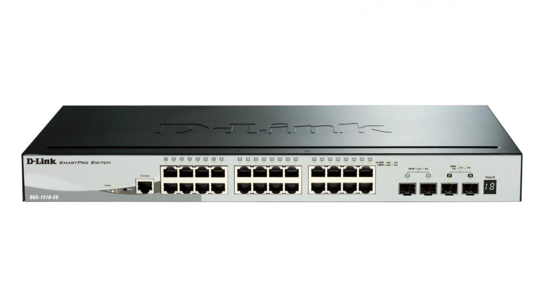 D-Link 28-Port Gigabit Stackable SmartPro Switch 2x SFP and 2x 10G SFP+ ports