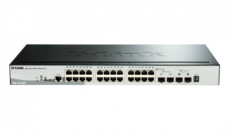 D-Link 28-Port Gigabit Stack PoE SmartPro Switch 2x SFP and 2x 10G SFP+ ports