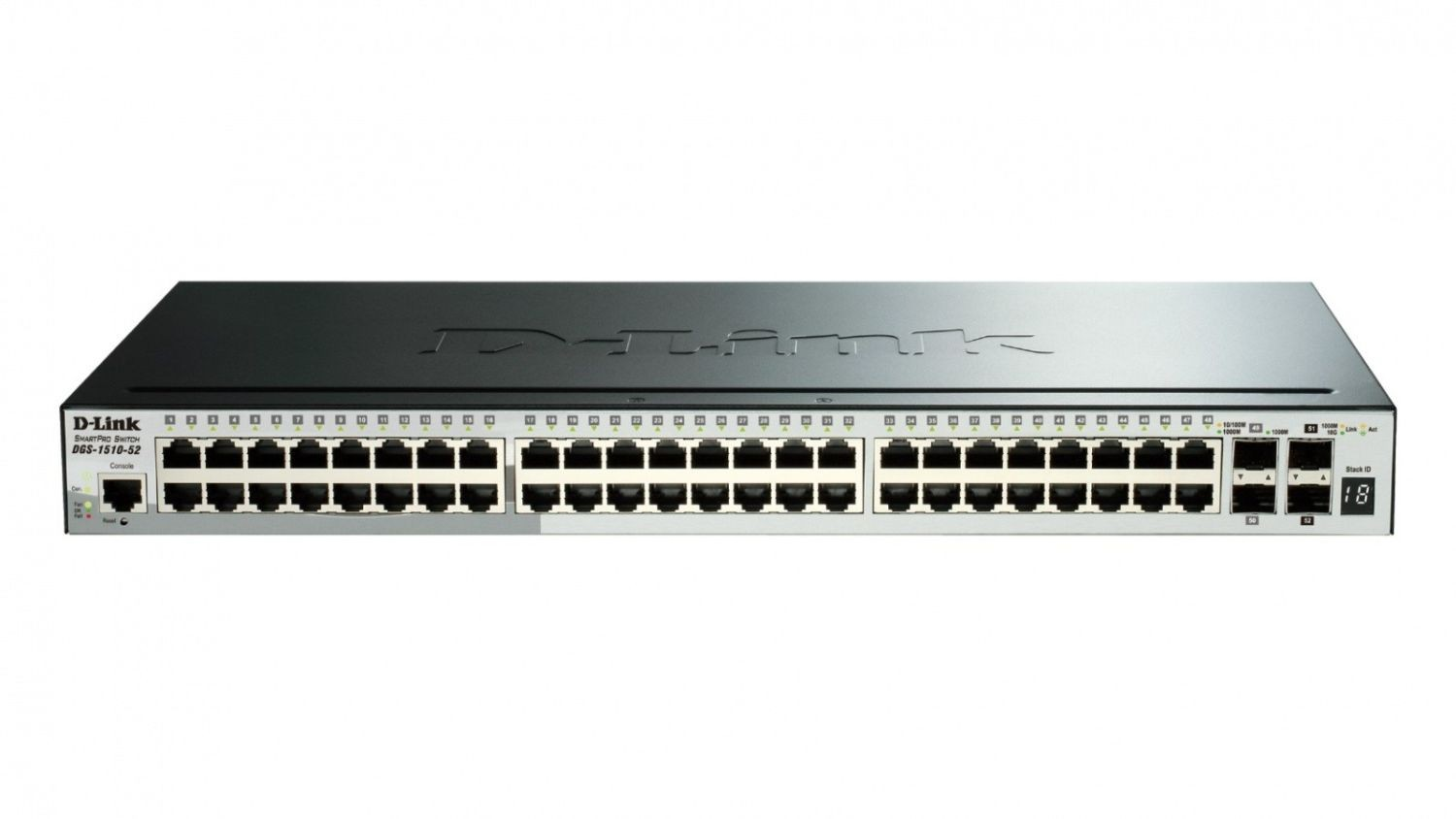 D-Link 52-Port Gigabit Stackable SmartPro Switch 2x SFP and 2x 10G SFP+ ports
