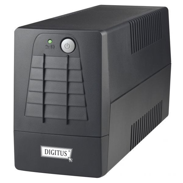 Digitus UPS 600VA czarny dwa gniazda Schuko