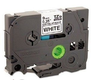Brother TZS221 taśma laminowana biała przylepna z czarnym nadrukiem (9mm)