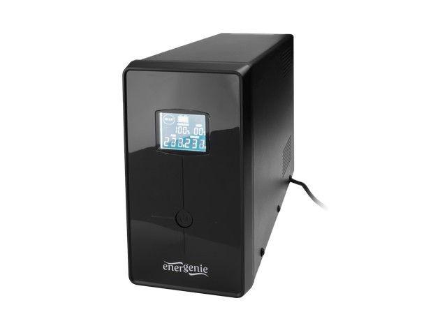 Gembird UPS Energenie-Gembird Line-Interactive,1200VA,3xIEC,2xSchuko 230V,USB,RJ11,LCD