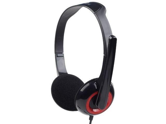 Gembird słuchawki stereofoniczne MHS-002 z mikrofonem, czarne