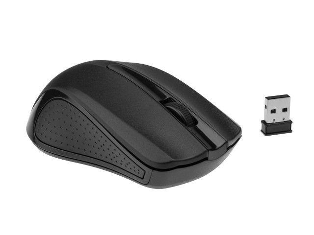 Gembird bezprzewodowa mysz optyczna MUSW-101, 1200 DPI, nano USB, czarna