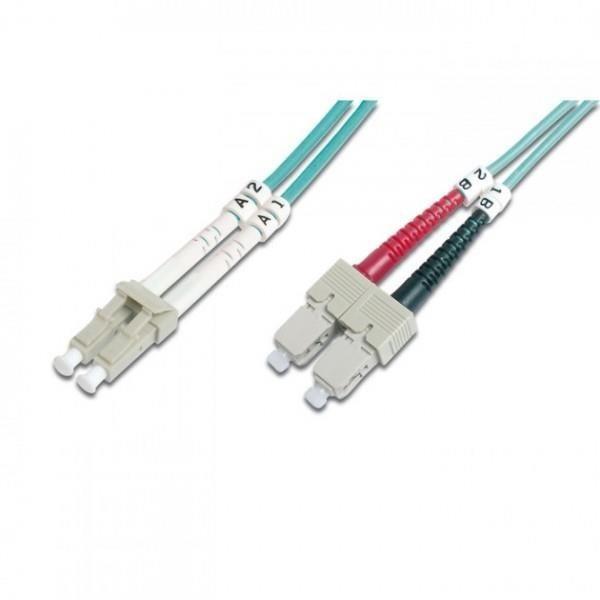 Intellinet Network Solutions Światłowód krosowy LC-SC duplex 1m 50/125 OM3 wielomodowy