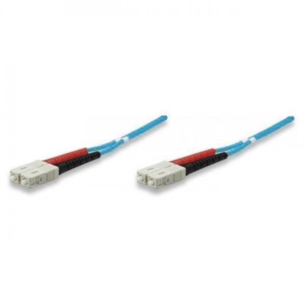 Intellinet Network Solutions Światłowód krosowy SC-SC duplex 1m 50/125 OM3 wielomodowy