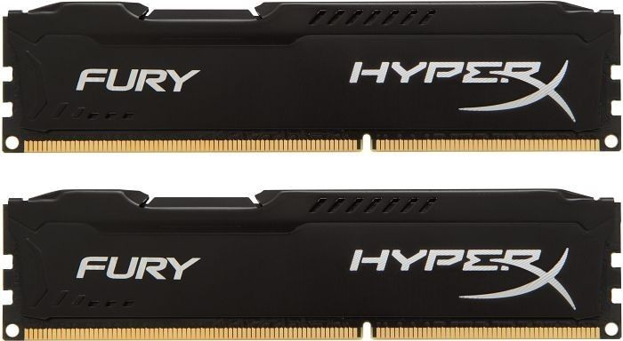 Kingston 2x4GB 1600MHz DDR3 CL10 DIMM 1.5 V HyperX Fury Black Series